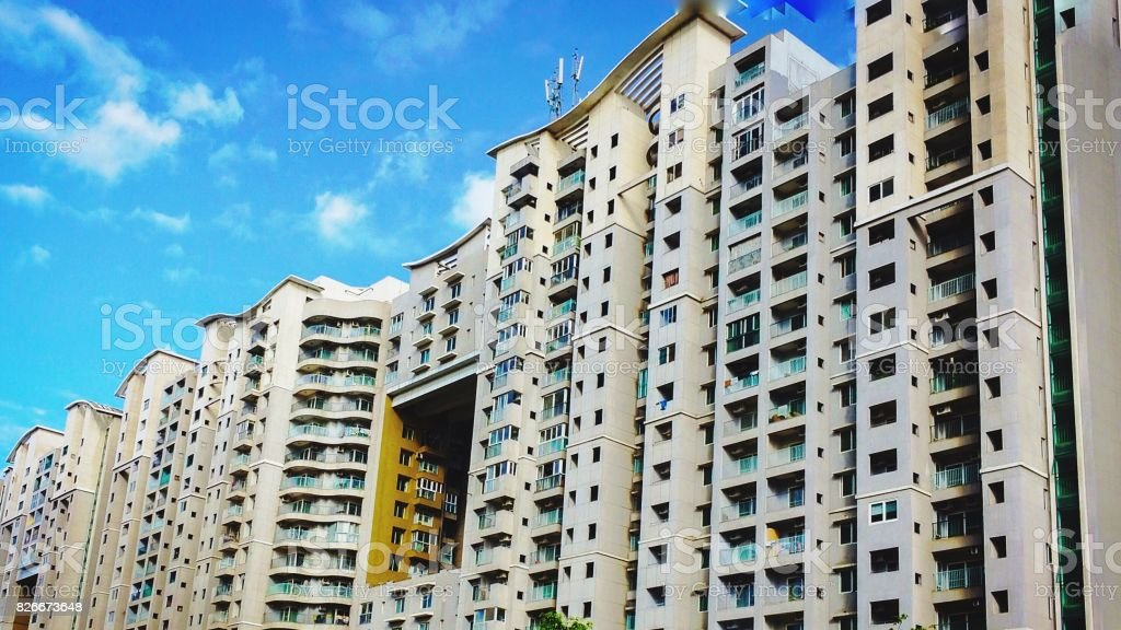 Low angle shot of an appartment stock photo