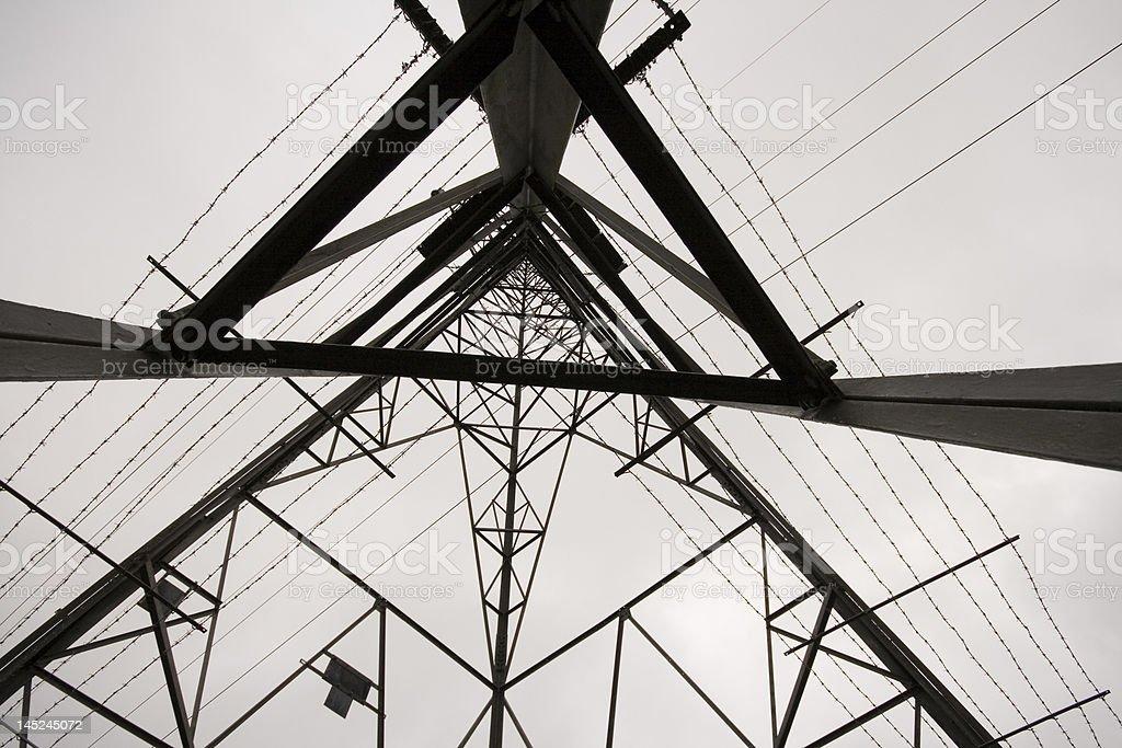 Low angle shot of Electricity Pylon stock photo