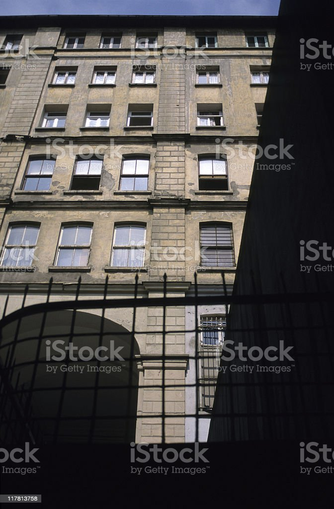 Low angle view of a building, Taksim, Istanbul, Turkey royalty-free stock photo