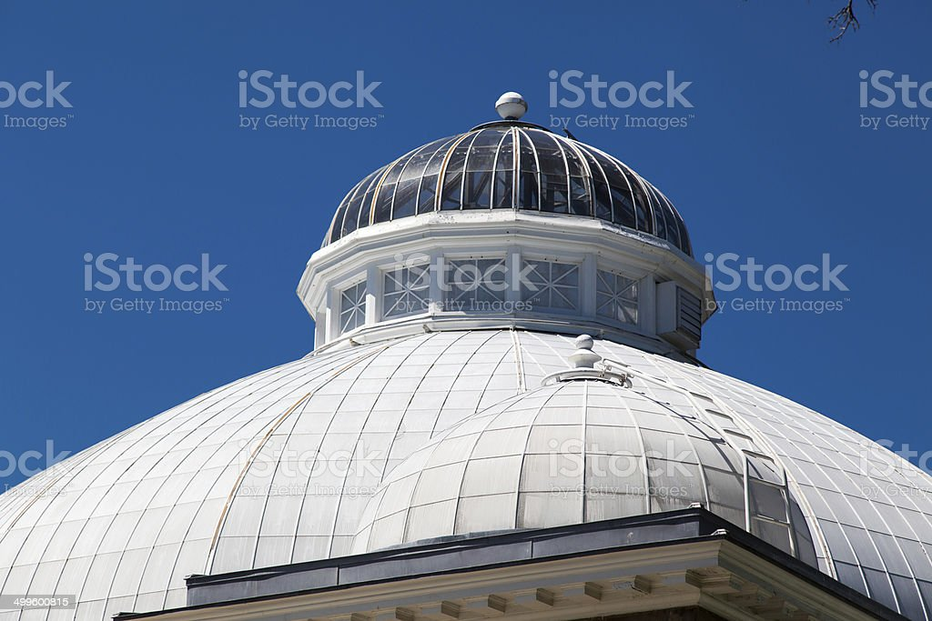 Low angle view of a greenhouse, Allan Gardens, Toronto, Ontario, stock photo