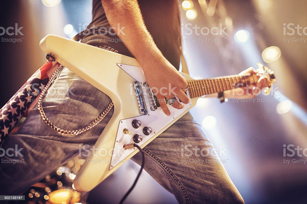 Playing from his soul stock photo