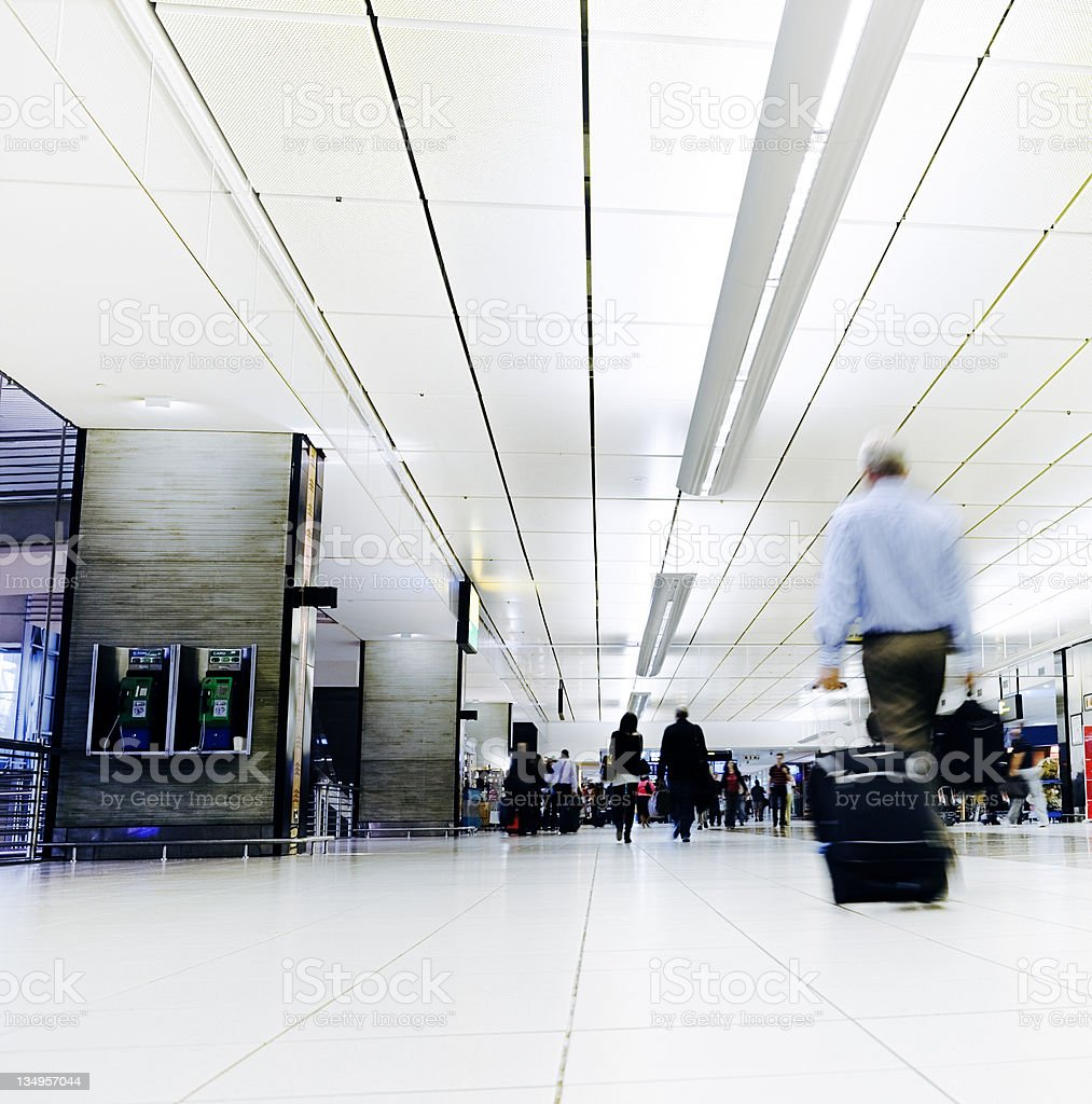 Low angle view of airport concourse royalty-free stock photo