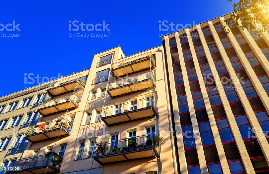 Low Angle View Of Building Against Sky stock photo