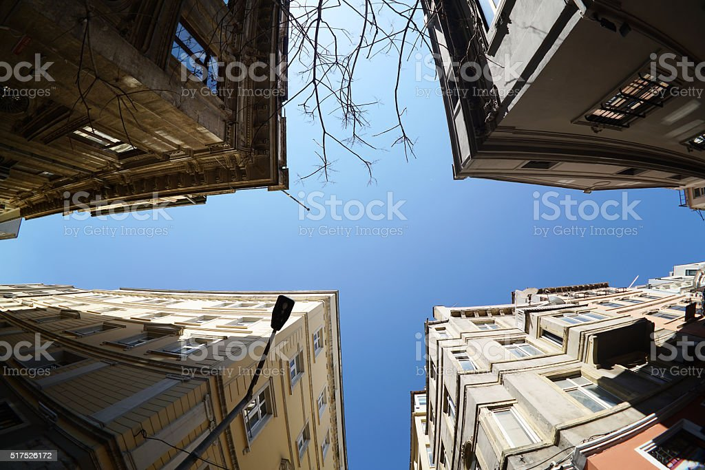 low angle view of buildings stock photo