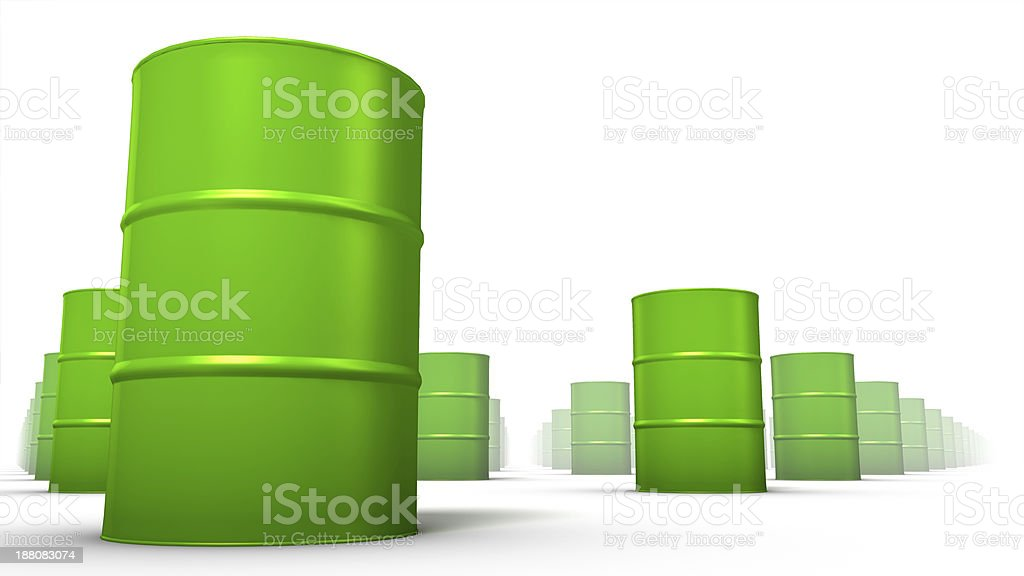 Low angle view of endless Oil Drums stock photo
