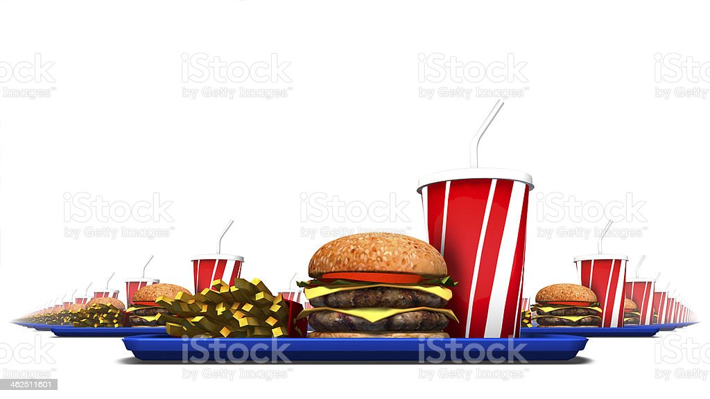 Low angle view of fast food stock photo