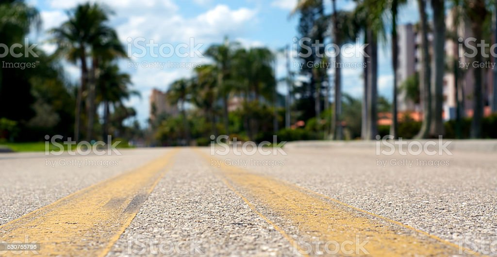 low angle view of road stock photo