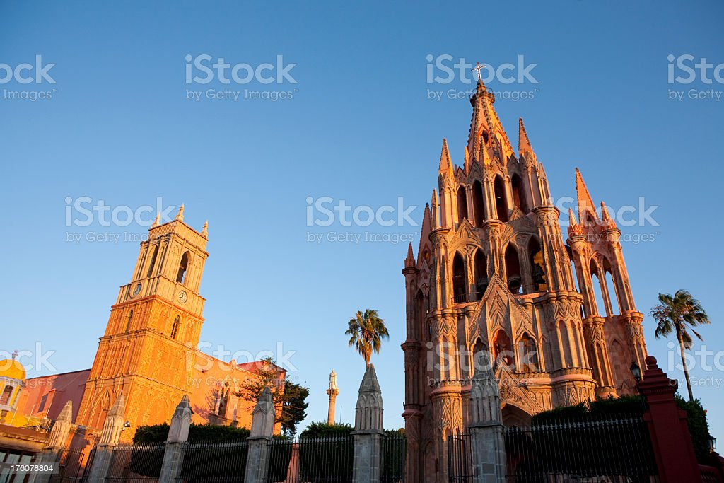 Low angle view of San Miguel de Alende stock photo
