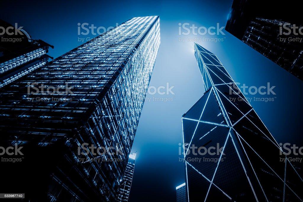 low angle view of skyscraper,hongkong stock photo