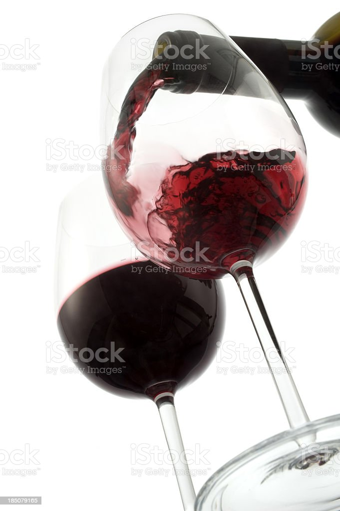 Low Angle Wine Pour royalty-free stock photo