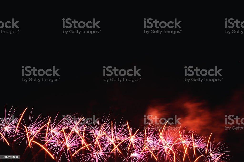 Low Attitude Fireworks stock photo