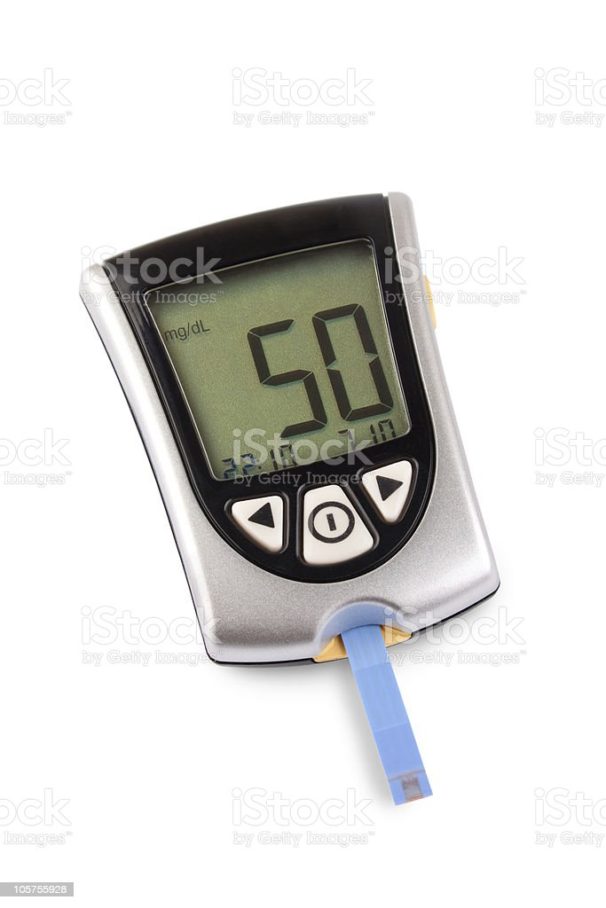 Low blood sugar level stock photo