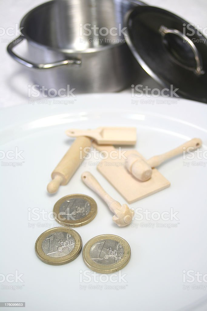 Low Budged Cooking Concept stock photo