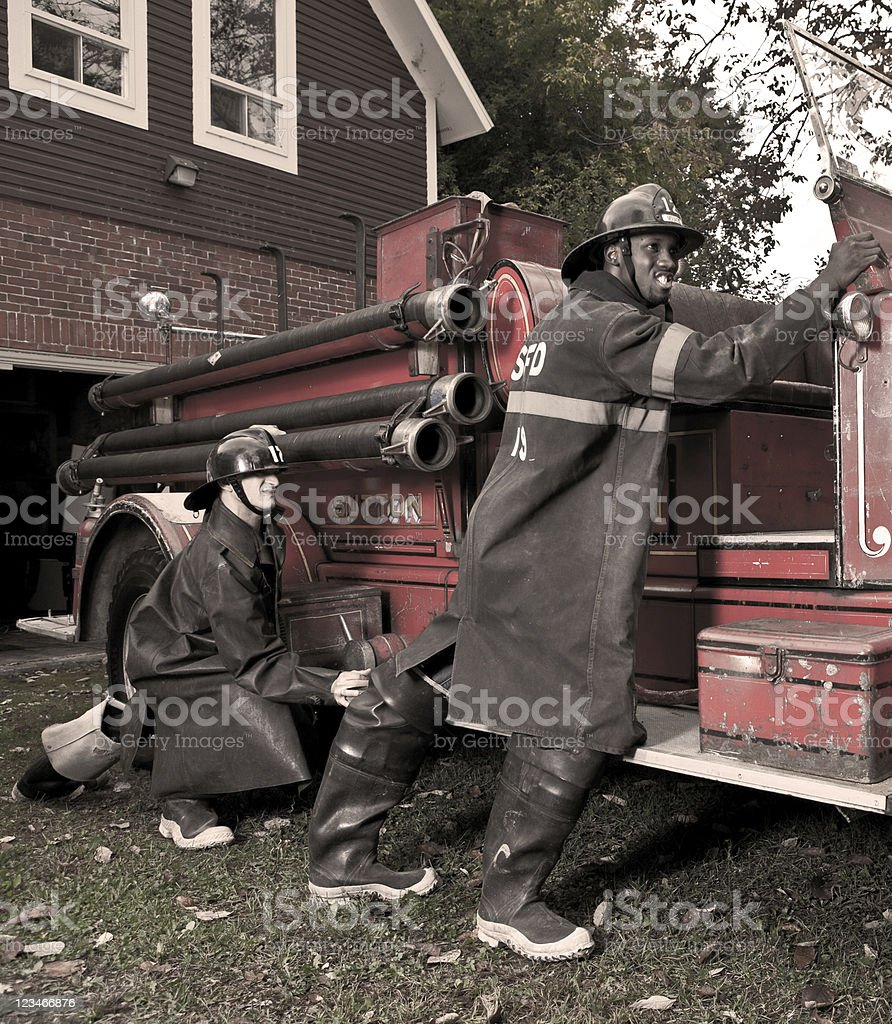 Low budget Fire Department royalty-free stock photo