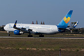 Low cost airline Thomas Cook 767-300 landing