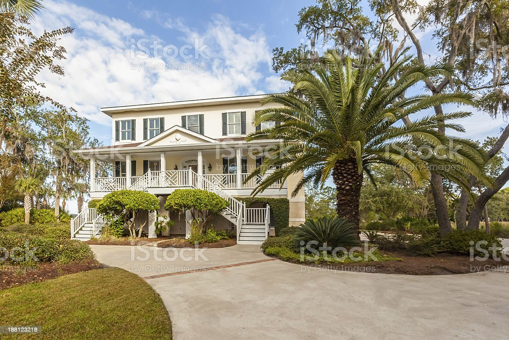 Low Country Home Exterior stock photo