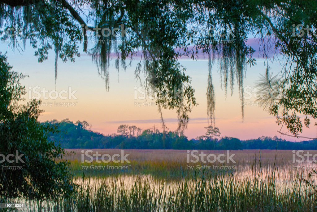 Low Country Sunset stock photo