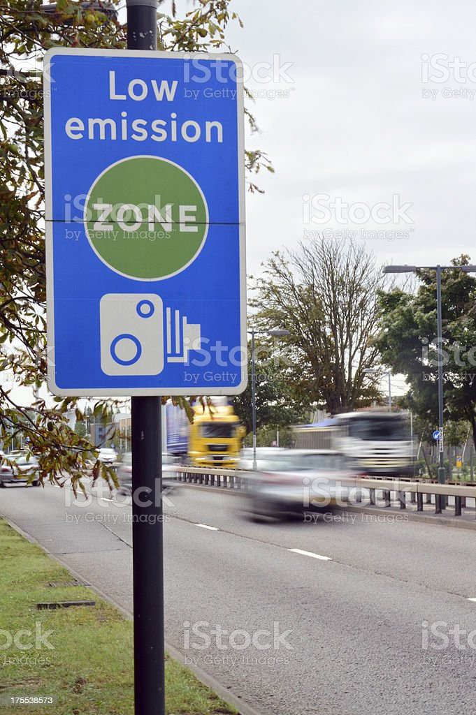 Low Emission Zone Sign stock photo