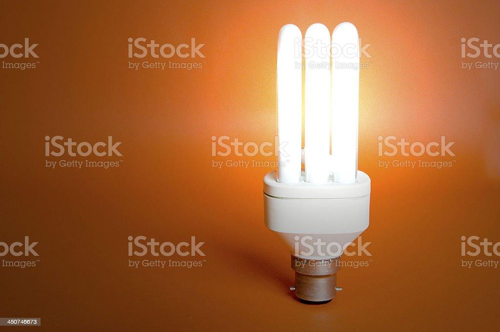 Low energy light bulb stock photo