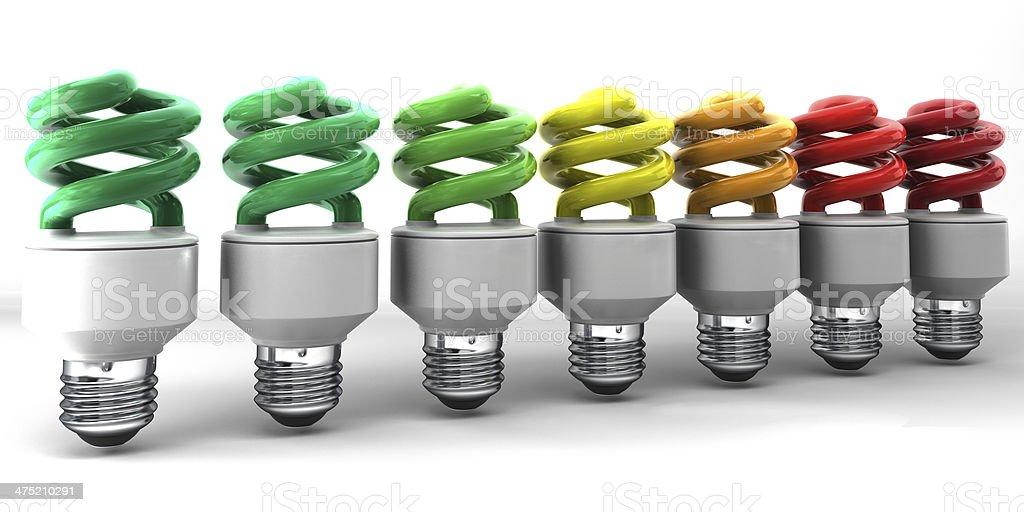 low energy light bulbs stock photo