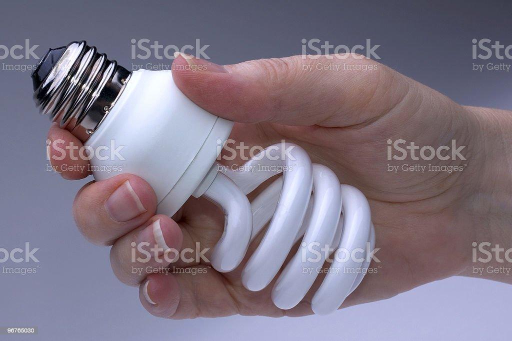 Low Energy Lightbulb stock photo