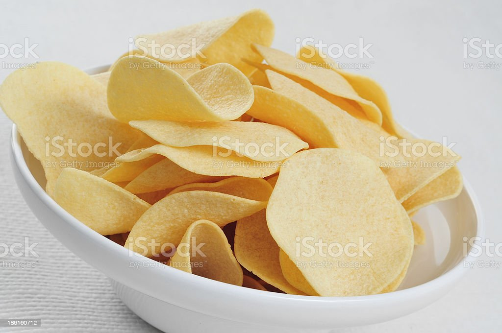 low fat potato chips royalty-free stock photo