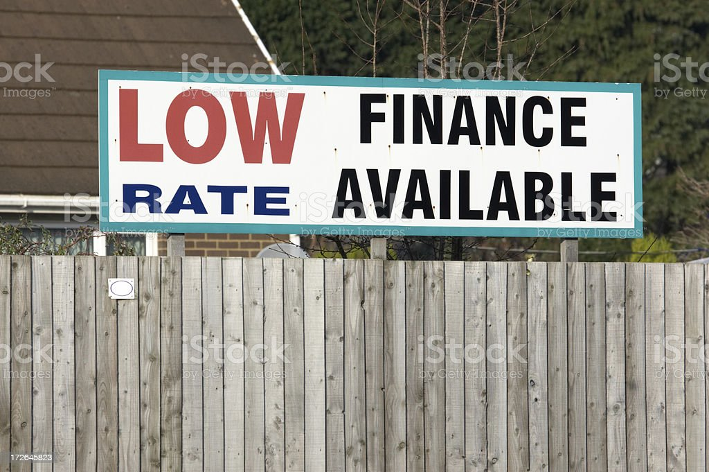 Low finance rate sign royalty-free stock photo
