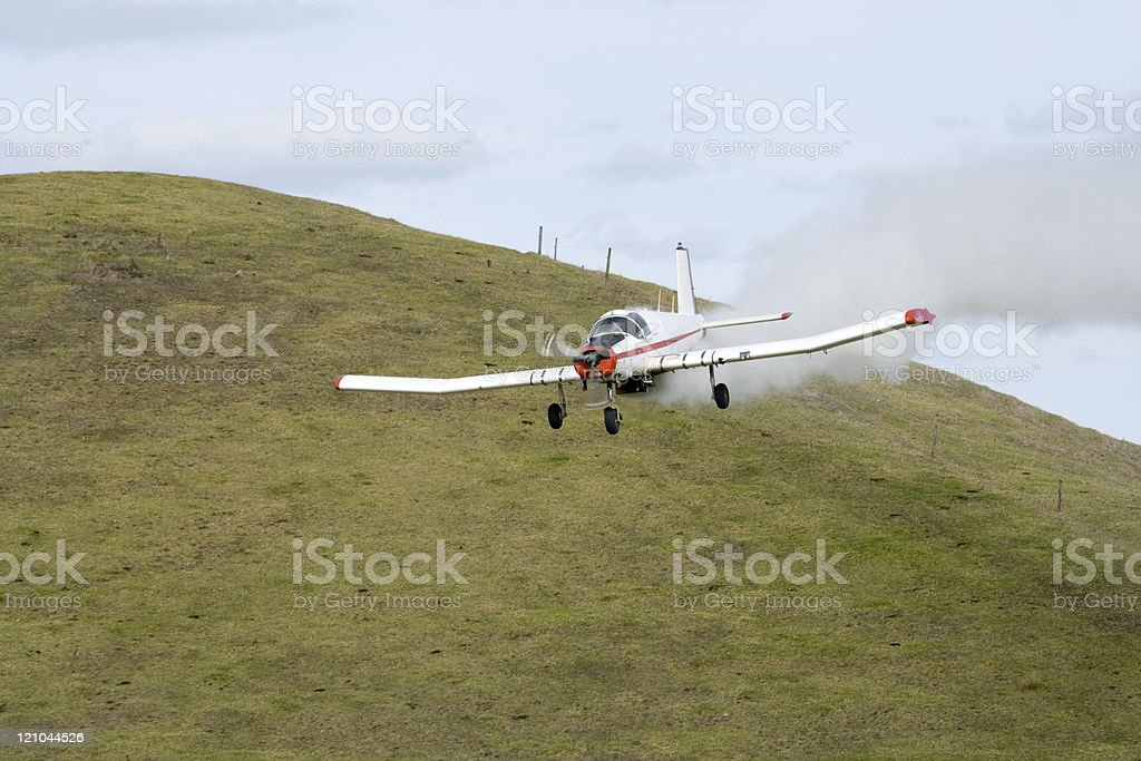 Low Flying Crop Duster - Close Up stock photo