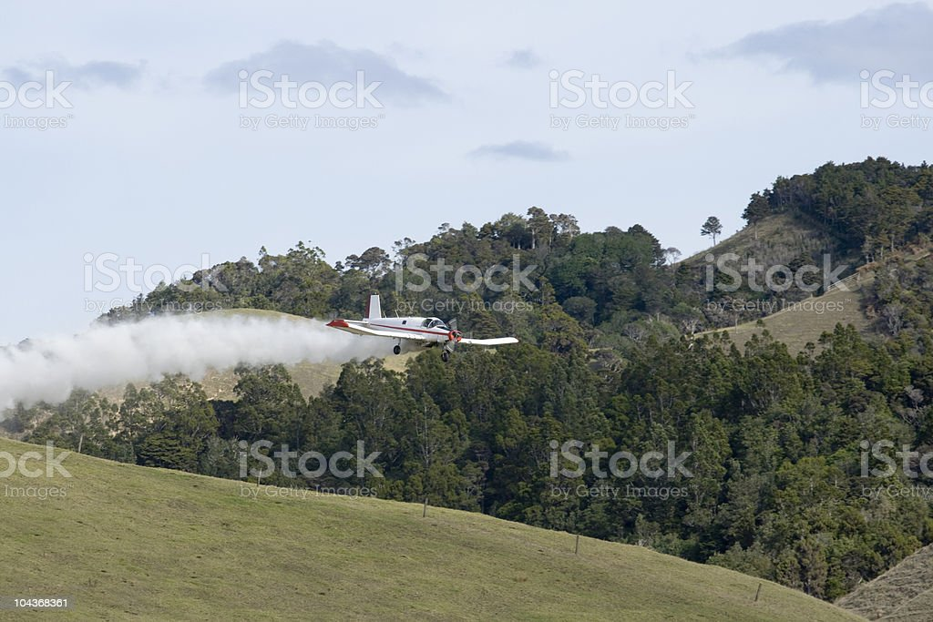Low Flying Crop Duster stock photo