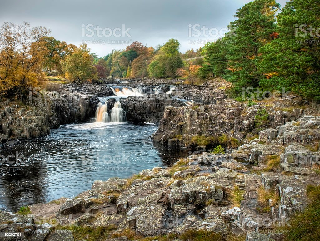 Low Force Waterfalls, Teesdale, Durham, UK stock photo