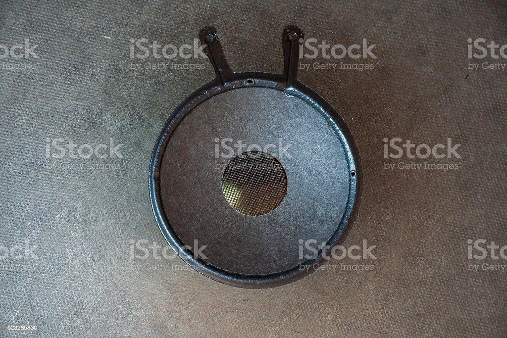 Low Frequency loudspeaker stock photo