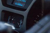 Low fuel car dashboard