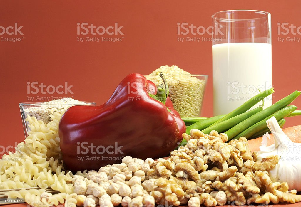 Low GI glycemic index foods royalty-free stock photo