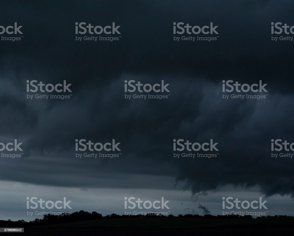 Low Hanging Clouds stock photo