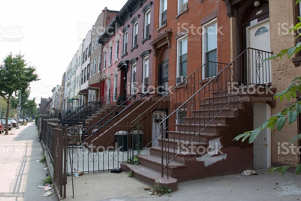 Low income housing royalty-free stock photo
