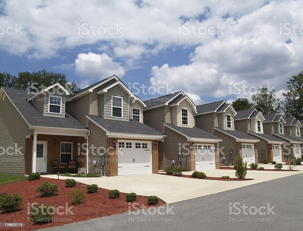 Low Income Retirement Condos or Complex stock photo