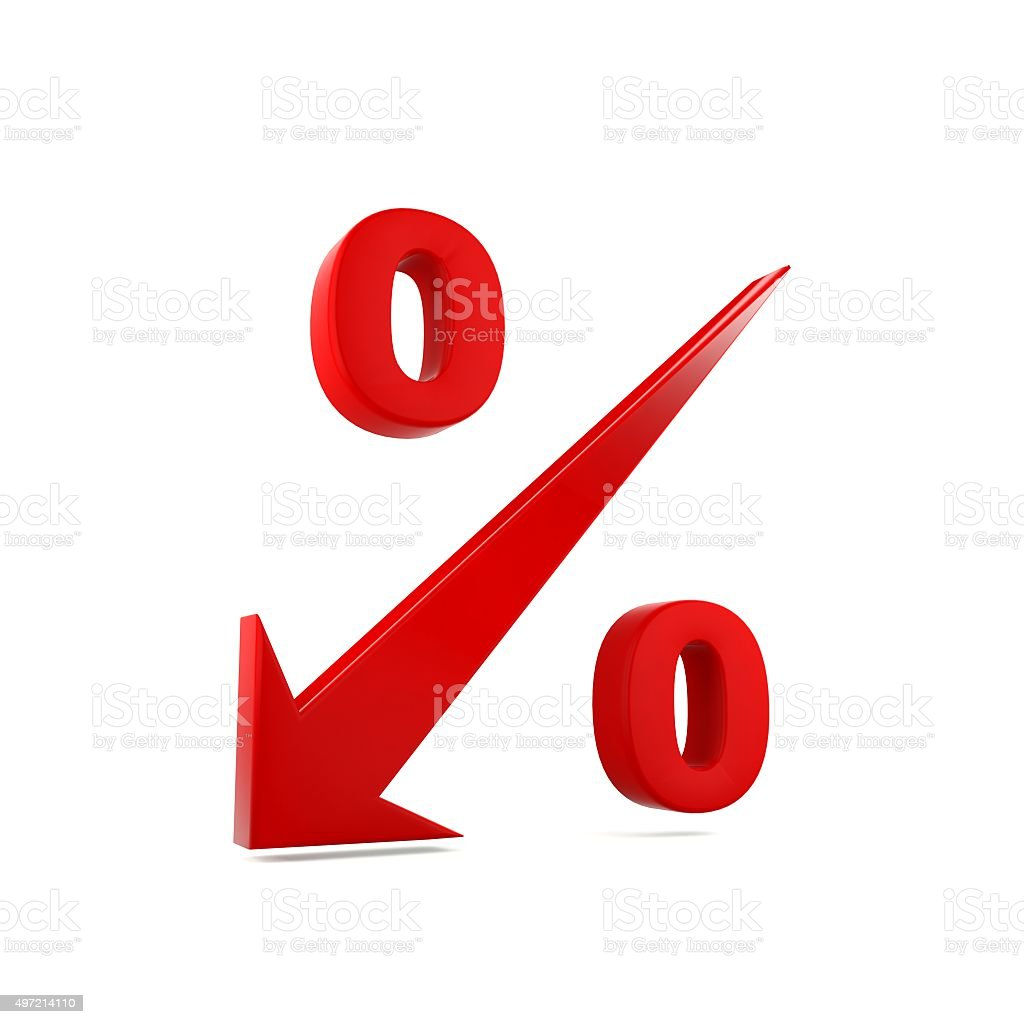 Low interest rate stock photo