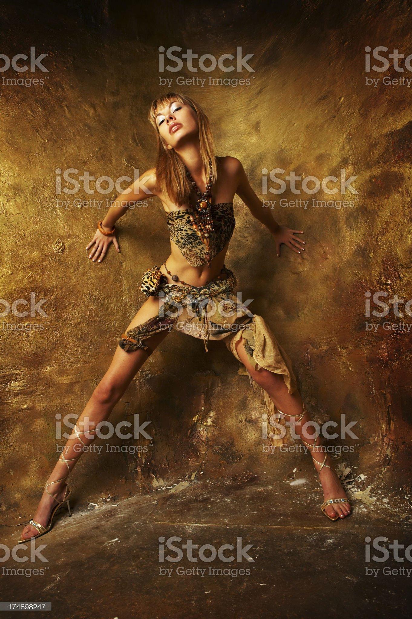 Low key girl royalty-free stock photo