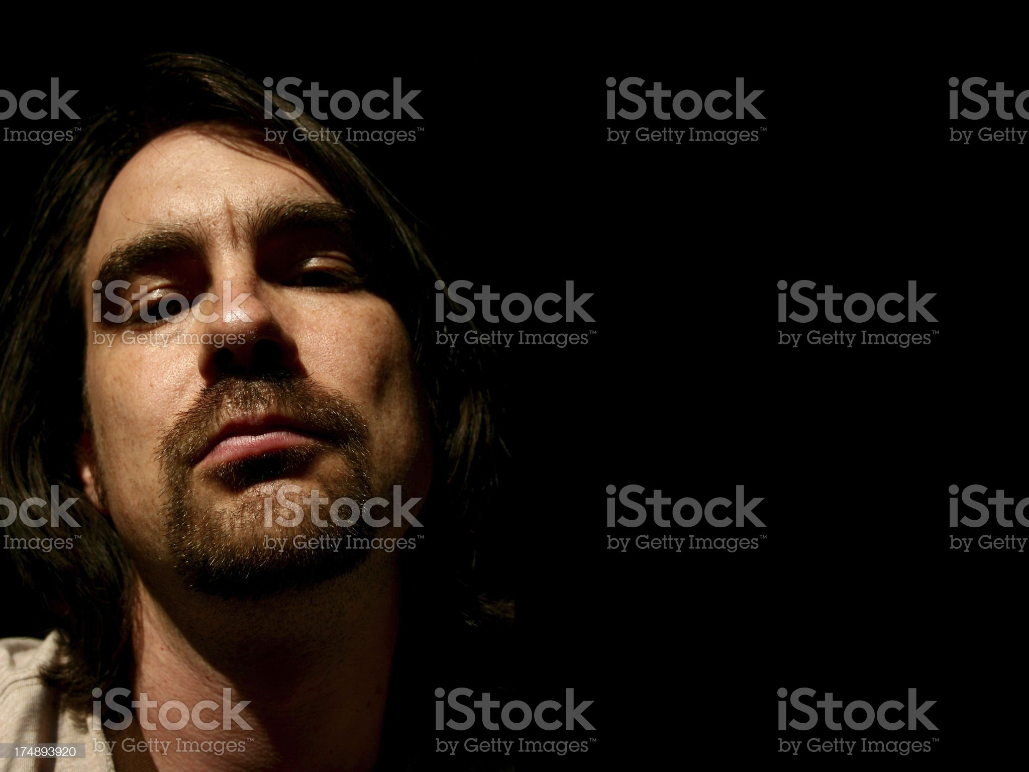 Low Key Indie Guy royalty-free stock photo