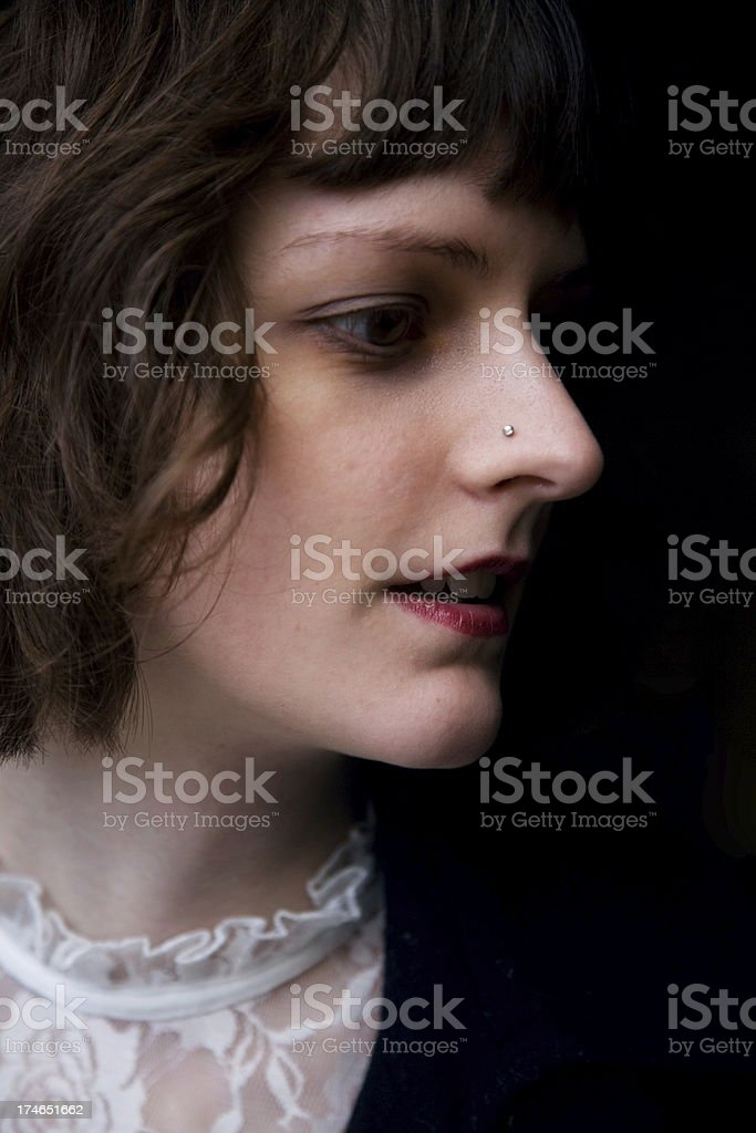 low key portrait stock photo