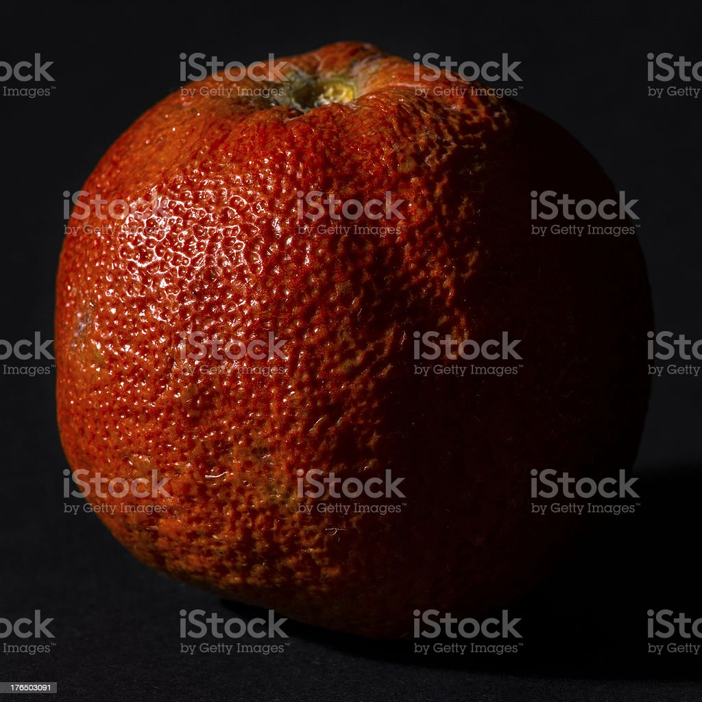 Low key real bio fruit: Clementine royalty-free stock photo