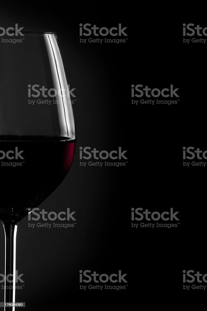 Low Key Red Wine royalty-free stock photo