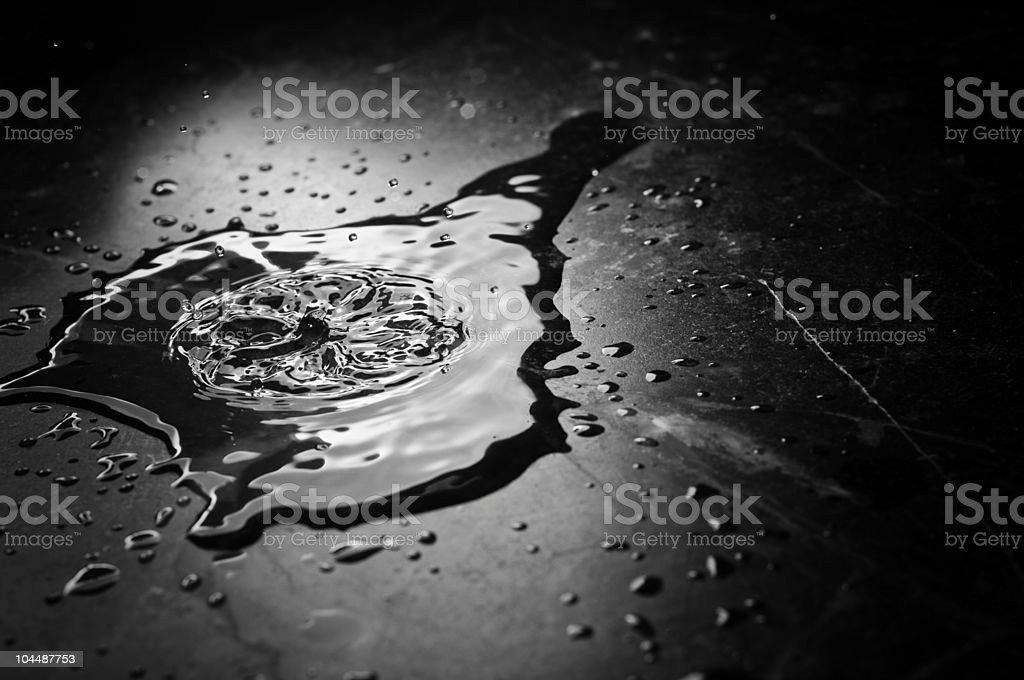 Low Key Water Splash stock photo