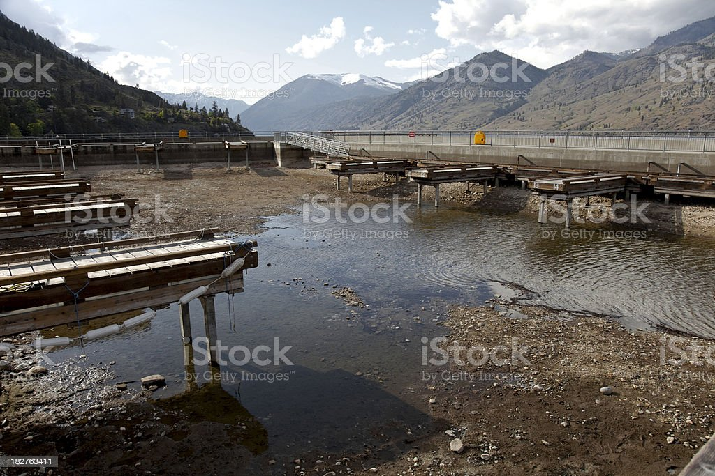 Low Lake Levels stock photo