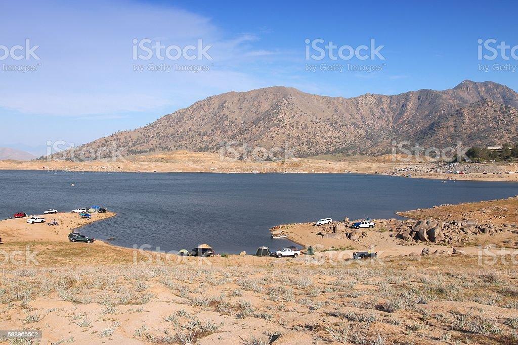 Low level lake stock photo