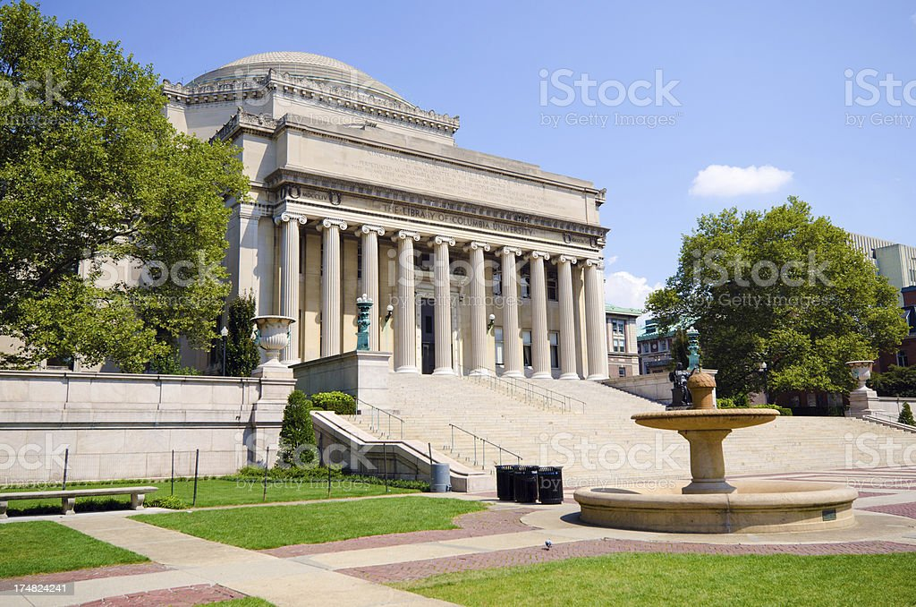 Low Memorial Library at Columbia University in New York City royalty-free stock photo