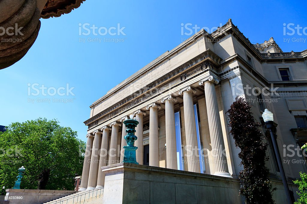 Low Memorial Library at Columbia University in New York City stock photo