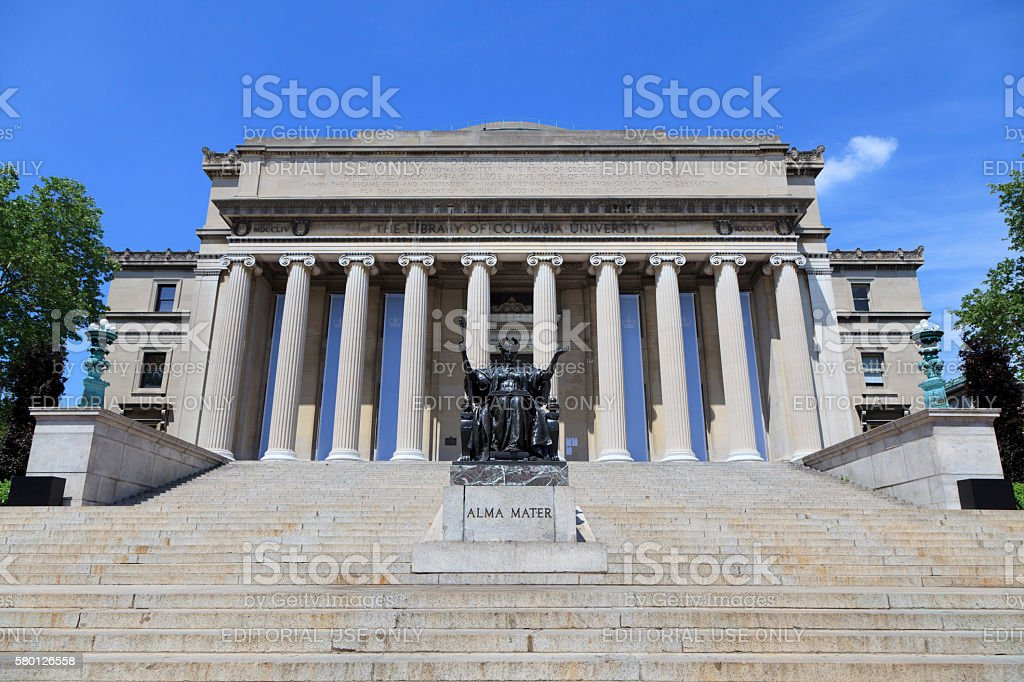 Low Memorial Library at Columbia University stock photo