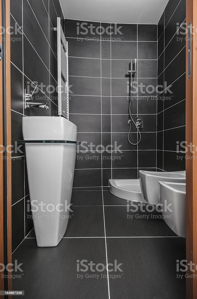 Low perspective of home bathroom royalty-free stock photo