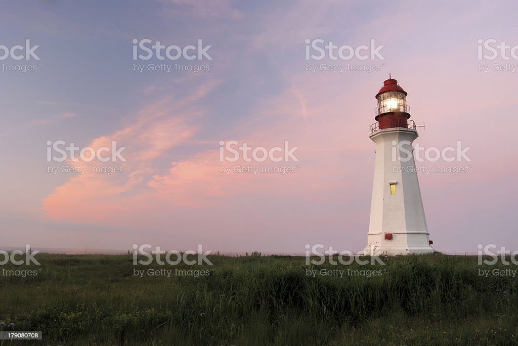 Low Point Lighthouse at dusk royalty-free stock photo
